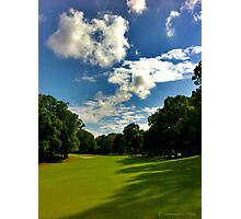 A Great Day for Golf Practice  Photographic Print
