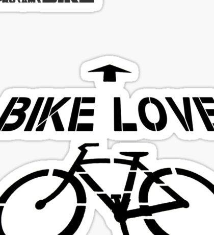 Cycling T Shirt - Bike Love Sticker