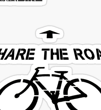 Cycling T Shirt - Share the Road Sticker