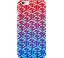 Penrose Cube - Red Blue Gradation iPhone Case/Skin