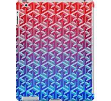 Penrose Cube - Red Blue Gradation iPad Case/Skin