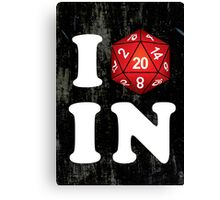 I D20 Indiana Canvas Print