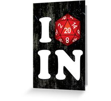 I D20 Indiana Greeting Card
