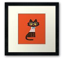 Fritz the preppy cat Framed Print
