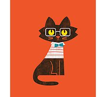 Fritz the preppy cat Photographic Print