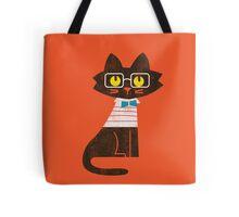 Fritz the preppy cat Tote Bag