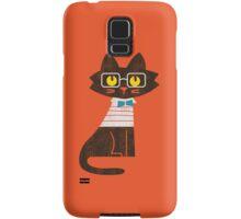 Fritz the preppy cat Samsung Galaxy Case/Skin