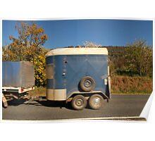 Horsey Caravan Poster