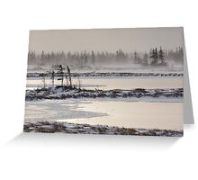 Frozen Landscape in Churchill, Manitoba Greeting Card