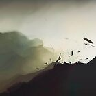 """""""explosion from a rocket launched from a US drone trying to kill innocent children in the mountains of Afghanistan"""" by Albert"""