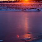 Frozen Churchill Sunset by cavaroc