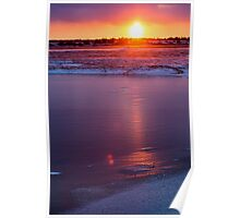 Frozen Churchill Sunset Poster