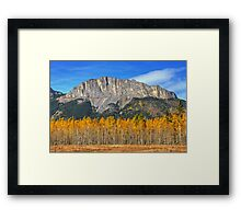 Fall Colors and Mount Yamnuska Framed Print