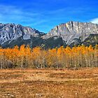 Old Goat and Yamnuska Mountains by JamesA1