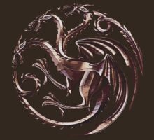 House Targaryen Game of Thrones Fire and Blood Bronze Violet Symbol by Haranteal