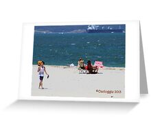 Dolls Point....... I used to take a book too.... Greeting Card