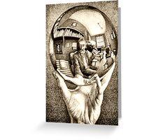 Escher's selfie Greeting Card