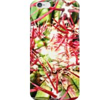Red Cactus Thorns iPhone Case/Skin