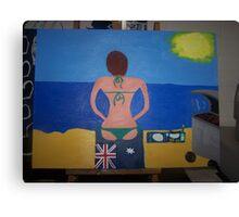 Australian Babe's Beach Barbie Canvas Print
