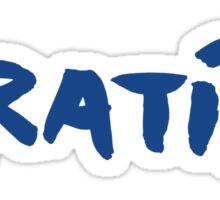 Greece Piratiko v1 : Blue Brush Sticker