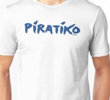 Greece Piratiko v1 : Blue Brush Unisex T-Shirt