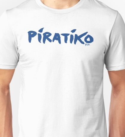 Greece Piratiko v1 : Blue Brush Unisex T-Shirt