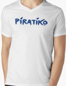 Greece Piratiko v1 : Blue Brush Mens V-Neck T-Shirt
