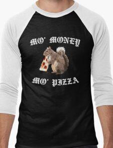 Funny Squirrel - Mo Money, Mo Pizza Men's Baseball ¾ T-Shirt