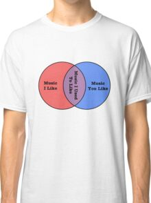 Music I like used to like and you like venn diagram Classic T-Shirt