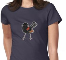 Singing red-backed fairy wren Womens Fitted T-Shirt