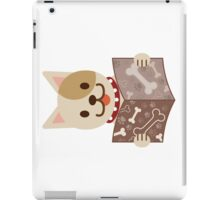 Cute dog with a catalog of bone iPad Case/Skin