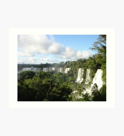 Iguazu falling Art Print