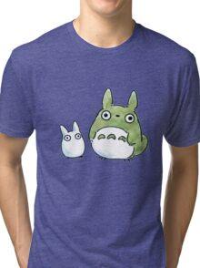 Totoro  Chibi Tri-blend T-Shirt