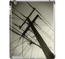 power lines iPad Case/Skin