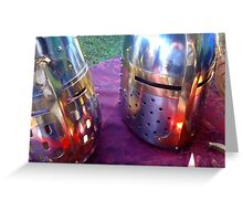 Red Helms Greeting Card