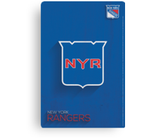 New York Rangers Minimalist Print Canvas Print