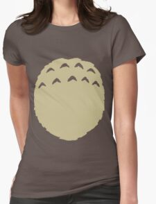 Totoro belly Womens Fitted T-Shirt