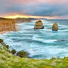 Gibsons Steps Dawn, Great Ocean Road, Victoria, Australia by Michael Boniwell