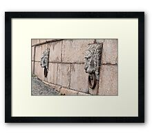 stone lion Framed Print