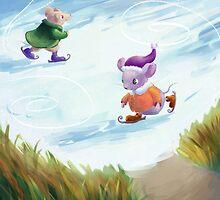 Skating mice by Petra van Berkum