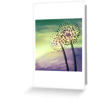 Flower Silhouettes Greeting Card