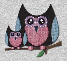 Owls - Texture owls Kids Clothes