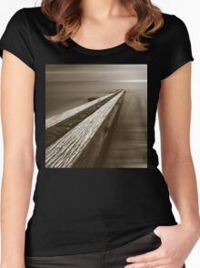 the break water 05 Women's Fitted Scoop T-Shirt