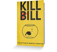 Kill Bill Minimalist Poster Greeting Card