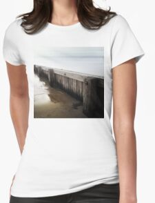 the break water 02 Womens Fitted T-Shirt