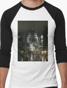St Paul's Cathedral In The Rain Men's Baseball ¾ T-Shirt