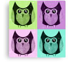 Distressed Owls Print Canvas Print