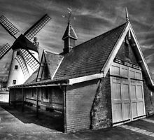 Lythams Lifeboat Station and Windmill by Roger Green