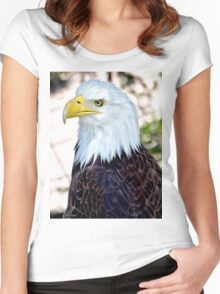 American Bald Eagle Women's Fitted Scoop T-Shirt