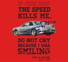 Paul Walker Tribute GTR - Halftone Kids Clothes